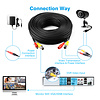 Gigacord BNC Video Power Cable Pre-made All-in-One Video Security Camera BNC Cable Wire (Choose Length)