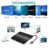 External CD Drive, USB 3.0 Ultra-Slim External DVD Drive, CD/DVD-RW Drive DVD/CD Rom Rewriter Burner Writer, High Speed Data Transfer for Laptop Desktops Win 7, 8, 10, Mac OS and Linux OS
