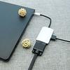 USB-C Male to VGA Female +HDMI Female Adapter