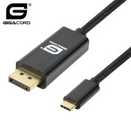 Gigacord USB-C Type-C to Displayport Cable 4K 60hz, Black (Choose Length)