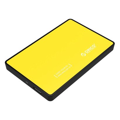 "ORICO ORICO 2588US3 Tool Free USB 3.0 External Hard Drive Enclosure for 2.5"" SATA HDD and SSD - Yellow"