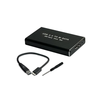 USB 3.0 to MSATA SSD Enclosure Adapter Cable, Small Aluminum Black Box