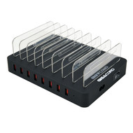 Gigacord Gigacord 8-Port USB Charging Station Hub Cradle 8-Ports 2.4a, 96W 19.2A Total, Black