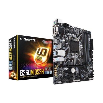 Gigabyte GIGABYTE B360M DS3H (LGA1151/Intel/Micro ATX/USB 3.1 Gen 1 (USB3.0) Type A/DDR4/Motherboard)