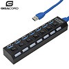 Gigacord Gigacord USB 3.0 7-Port USB 3.0 Hub with Separate Power Switch, LEDs and A USB Cable Compatible for All USB Device