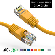 Cat6 UTP Ethernet Network Booted Cable 24AWG Pure Copper, Yellow (Choose Length)