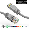 Cat6 UTP Ethernet Network Booted Cable 24AWG Pure Copper, Gray (Choose Length)