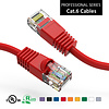 Cat6 UTP Ethernet Network Booted Cable 24AWG Pure Copper, Red (Choose Length)
