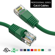 Cat6 UTP Ethernet Network Booted Cable 24AWG Pure Copper, Green (Choose Length)