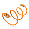 Cat6 UTP Ethernet Network Booted Cable 24AWG Pure Copper, Orange (Choose Length)