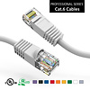 Cat6 UTP Ethernet Network Booted Cable 24AWG Pure Copper, White (Choose Length)