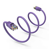Cat6 UTP Ethernet Network Booted Cable 24AWG Pure Copper, Purple (Choose Length)