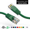 Cat5e UTP Ethernet Network Booted Cable 24AWG Pure Copper, Green (Choose Length)