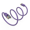 Cat5e UTP Ethernet Network Booted Cable 24AWG Pure Copper, Purple (Choose Length)