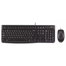 Logitech Logitech Desktop MK120 USB Wired Mouse and Keyboard Combo