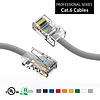 Cat6 UTP Ethernet Network Non Booted Cable 24AWG Pure Copper, Gray (Choose Length)