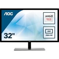 """AOC AOC Q3279VWFD8 31.5"""" QHD 2560x1440 Monitor, 10-Bit IPS Panel, 4ms, 75Hz, Freesync, DisplayPort/HDMI/DVI-D/VGA, Flickerfree"""
