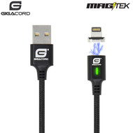Gigacord Gigacord MAGtek Magnetic Charging/Sync Cable, 3A, Fast Charge, Braided Nylon, w/ LED Indicator (Choose Length and Connector)