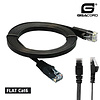 Gigacord Cat6 FLAT Thin UTP Ethernet Network Booted Cable 32AWG Pure Copper, Black (Choose Length)