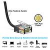 Gigacord Cat6A UTP Super-Slim Ethernet Network Cable 32AWG Black (Choose Length)