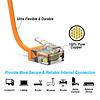 Gigacord Cat6A UTP Super-Slim Ethernet Network Cable 32AWG Orange (Choose Length)