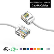 Gigacord Cat6A UTP Super-Slim Ethernet Network Cable 32AWG White (Choose Length)