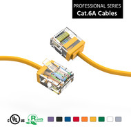 Gigacord Cat6A UTP Super-Slim Ethernet Network Cable 32AWG Yellow (Choose Length)