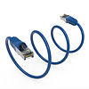Gigacord Cat7 Shielded (SSTP) 600MHz Ethernet Network Booted Cable Blue (Choose Length)