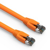 Cat.8 S/FTP Ethernet Network Cable 2GHz 40G Orange 24AWG (Choose Length)
