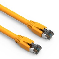 Cat.8 S/FTP Ethernet Network Cable 2GHz 40G Yellow 24AWG (Choose Length)