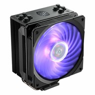 Coolermaster Cooler Master Hyper 212 RGB Black Edition CPU Air Cooler w/ SF120R 120mm RGB Fan, 4 Continuous Direct Contact 2.0 Heatpipes, Anodized Gun-Metal Black, Brushed Nickel Fins, Intel LGA1151, AMD AM4/Ryzen