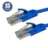 15Ft Cat5e UTP Ethernet Network LAN EZ Boot Cable 24AWG, Blue Cat-5e