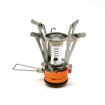 Camping Stove with Piezo Ignition, Adjustable Valve Stainless Steel