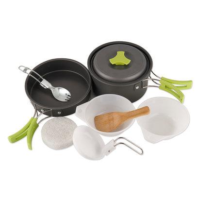 Camping Aluminum Pot Pan Bowl Cookware 8-pc Kit