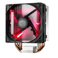 Cooler Master Cooler Master Hyper 212 LED w/ 4 Continuous Direct Contact Heatpipes, 120mm PWM Fan, Quiet Spin Technology , Red LEDs, Intel LGA1151, AMD AM4/Ryzen