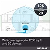 Netgear NETGEAR WiFi Router (R6230) - AC1200 Dual Band Wireless Speed (up to 1200 Mbps) | Up to 1200 sq ft Coverage & 20 Devices | 4 x 1G Ethernet and 1 x 2.0 USB Ports