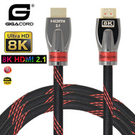 Gigacord Gigacord High Speed HDMI 2.1 48Gbps 8K/60 4K/120 Ultra HD HDR BT.2020 Cable, Black