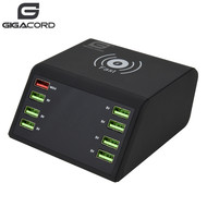 Gigacord Gigacord 7-Port 2.4A, 1-Port QC 3.0 USB + 10W Wireless Charger Rapid Charging Station
