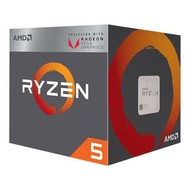 AMD AMD RYZEN 5 2400G Quad-Core 3.6 GHz (3.9 GHz Max Boost) Socket AM4 65W YD2400C5FBBOX Desktop Processor