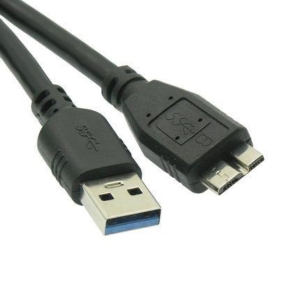 6ft. USB 3.0 A Male to Micro B Male Cable, Black