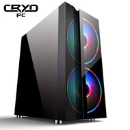 Cryo-PC Cryo-PC Black ATX Case Dual 200mm RGB Fans