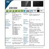 "AOC AOC 22V2H 22"" Full HD 1920x1080 Ultra-Slim Monitor, Frameless IPS, 5ms, 75Hz, Freesync, Flickerfree, HDMI/VGA"