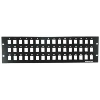 "3U 19"" 48port Blank Patch Panel for Keystone Jack"