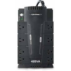CyberPower CyberPower CP425SLG Standby UPS Battery Surge System, 425VA/255W, 8 Outlets, Compact