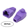 Color Boots for RJ45 Plug Ethernet LAN Network Patch Cable, Purple 100pk