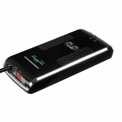 Monster Monster Power Black Platinum Surge Strip 6 outlet, 2 USB Charging Ports, Recertified, Bulk Pkg.