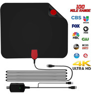 HDTV Antenna, HD Digital Indoor Amplifier TV Antenna 50-100 Miles Range with Amplifier Signal Booster Support 1080P 4K UHF VHF Freeview Channels