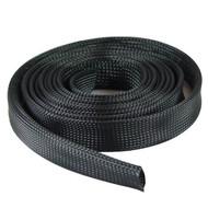 Expandable Braided Cable Sock Black 100Ft (30.48m), Choose Diameter