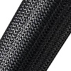 Expandable Braided Cable Sock Black 100Ft (30.48m), Choose Diameter