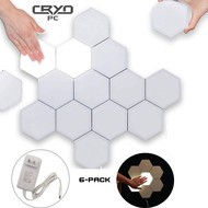 Cryo-PC Cryo-PC Hexagonal Wall Light, Touch Sensitive Modular Light, DIY Lights Creative Geometry Assembly LED Night Light (6pcs)